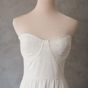 Dresses - Ivory Strapless Dress